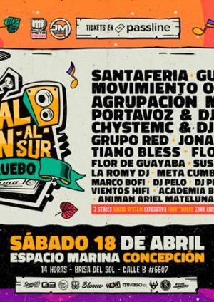 """Festival Sativa Tren al Sur """"Sipo, apruebo"""" vuelve con todo para quedarse en Concepción"""